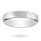 Mappin & Webb 6mm Flat Comfort Fit Gents Court Ring In Platinum
