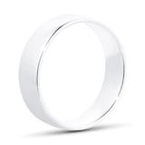 Goldsmiths 6mm Slight Court Standard  Wedding Ring In 9 Carat White Gold