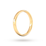 Goldsmiths 3mm Slight Court Standard  Wedding Ring In 9 Carat Yellow Gold
