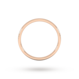 Goldsmiths 2mm Slight Court Standard  Wedding Ring In 9 Carat Rose Gold