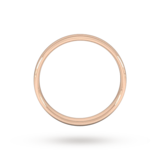 Goldsmiths 4mm Slight Court Standard  Wedding Ring In 9 Carat Rose Gold
