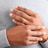 Goldsmiths 4mm Slight Court Standard  Wedding Ring In 18 Carat Yellow Gold