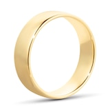 Goldsmiths 6mm Slight Court Standard  Wedding Ring In 18 Carat Yellow Gold