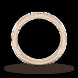 Goldsmiths 0.18 Carat Total Weight Brilliant Cut Channel Set With Matt Finish  Diamond Wedding Ring In 18 Carat Yellow Gold