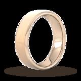Goldsmiths 6mm D Shape Heavy Matt Finished Wedding Ring In 9 Carat Rose Gold