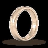 Goldsmiths 5mm Traditional Court Standard Milgrain Centre Wedding Ring In 9 Carat Rose Gold