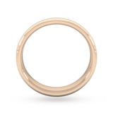 Goldsmiths 5mm D Shape Standard Matt Finish With Double Grooves Wedding Ring In 9 Carat Rose Gold