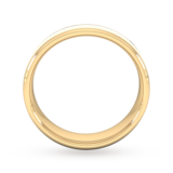 Goldsmiths 6mm Slight Court Extra Heavy Centre Groove With Chamfered Edge Wedding Ring In 9 Carat Yellow Gold