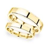 Goldsmiths 6mm D Shape Standard Milgrain Edge Wedding Ring In 9 Carat Yellow Gold - Ring Size P