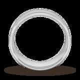 Goldsmiths 8mm Slight Court Standard Milgrain Centre Wedding Ring In 18 Carat White Gold