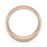 Goldsmiths 8mm Slight Court Standard Grooved Polished Finish Wedding Ring In 9 Carat Rose Gold