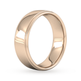 Goldsmiths 7mm D Shape Heavy Polished Finish With Grooves Wedding Ring In 9 Carat Rose Gold