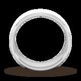 Goldsmiths 7mm D Shape Standard Matt Finished Wedding Ring In Platinum