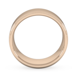 Goldsmiths 8mm Flat Court Heavy Milgrain Edge Wedding Ring In 18 Carat Rose Gold