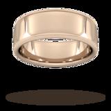 Goldsmiths 8mm Traditional Court Standard Milgrain Edge Wedding Ring In 9 Carat Rose Gold