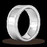 Goldsmiths 8mm Traditional Court Standard Milgrain Edge Wedding Ring In Platinum