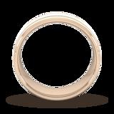 Goldsmiths 8mm Slight Court Standard Matt Finish With Double Grooves Wedding Ring In 18 Carat Rose Gold