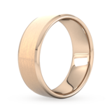 Goldsmiths 8mm Traditional Court Heavy Polished Chamfered Edges With Matt Centre Wedding Ring In 9 Carat Rose Gold