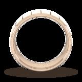 Goldsmiths 7mm Slight Court Heavy Vertical Lines Wedding Ring In 9 Carat Rose Gold