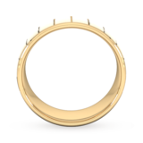 Goldsmiths 8mm Traditional Court Heavy Vertical Lines Wedding Ring In 9 Carat Yellow Gold