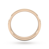 Goldsmiths 4mm D Shape Heavy Matt Centre With Grooves Wedding Ring In 9 Carat Rose Gold