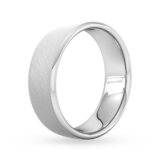 Goldsmiths 7mm Flat Court Heavy Diagonal Matt Finish Wedding Ring In Platinum