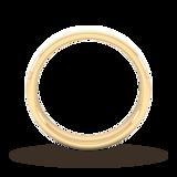 Goldsmiths 4mm Traditional Court Standard Diagonal Matt Finish Wedding Ring In 18 Carat Yellow Gold