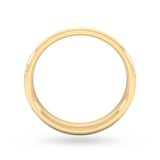 Goldsmiths 4mm Traditional Court Heavy Diagonal Matt Finish Wedding Ring In 18 Carat Yellow Gold