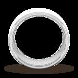 Goldsmiths 8mm D Shape Heavy Diagonal Matt Finish Wedding Ring In 9 Carat White Gold