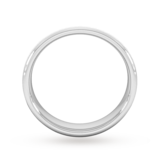 Goldsmiths 4mm D Shape Heavy Diagonal Matt Finish Wedding Ring In 18 Carat White Gold