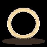Goldsmiths 2.5mm Slight Court Heavy Milgrain Edge Wedding Ring In 9 Carat Yellow Gold