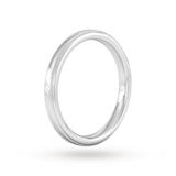 Goldsmiths 2.5mm Traditional Court Heavy Milgrain Edge Wedding Ring In 18 Carat White Gold