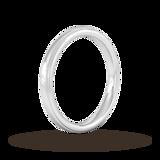 Goldsmiths 2.5mm D Shape Standard Milgrain Edge Wedding Ring In 950  Palladium