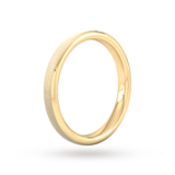 Goldsmiths 2.5mm Slight Court Heavy Polished Chamfered Edges With Matt Centre Wedding Ring In 9 Carat Yellow Gold