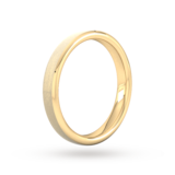 Goldsmiths 3mm Slight Court Extra Heavy Polished Chamfered Edges With Matt Centre Wedding Ring In 18 Carat Yellow Gold