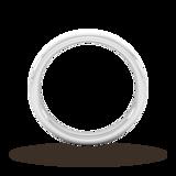 Goldsmiths 3mm Slight Court Extra Heavy Polished Chamfered Edges With Matt Centre Wedding Ring In Platinum
