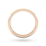 Goldsmiths 2.5mm D Shape Standard Polished Chamfered Edges With Matt Centre Wedding Ring In 9 Carat Rose Gold