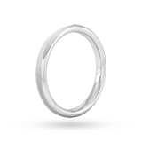 Goldsmiths 2.5mm Flat Court Heavy Matt Centre With Grooves Wedding Ring In Platinum