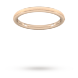 Goldsmiths 2mm Traditional Court Standard Matt Centre With Grooves Wedding Ring In 9 Carat Rose Gold
