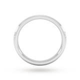 Goldsmiths 2.5mm Traditional Court Standard Matt Centre With Grooves Wedding Ring In 950  Palladium