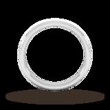 Goldsmiths 3mm D Shape Standard Matt Centre With Grooves Wedding Ring In 950  Palladium