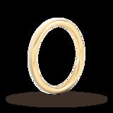 Goldsmiths 2mm Slight Court Heavy Matt Finished Wedding Ring In 18 Carat Yellow Gold