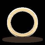 Goldsmiths 2.5mm Slight Court Extra Heavy Matt Finished Wedding Ring In 18 Carat Yellow Gold