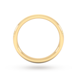 Goldsmiths 2.5mm Traditional Court Heavy Matt Finished Wedding Ring In 18 Carat Yellow Gold