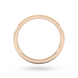 Goldsmiths 2mm D Shape Standard Matt Finished Wedding Ring In 9 Carat Rose Gold