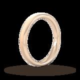 Goldsmiths 3mm D Shape Standard Matt Finished Wedding Ring In 9 Carat Rose Gold