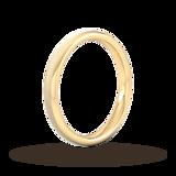 Goldsmiths 2.5mm D Shape Heavy Matt Finished Wedding Ring In 18 Carat Yellow Gold