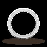 Goldsmiths 3mm D Shape Standard Matt Finished Wedding Ring In Platinum