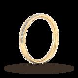 Goldsmiths 0.21 Carat Total Weight Half Channel Set Brilliant Cut Diamond Wedding Ring In 9 Carat Yellow Gold