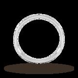 Goldsmiths 0.21 Carat Total Weight Half Channel Set Brilliant Cut Diamond Wedding Ring In 9 Carat White Gold